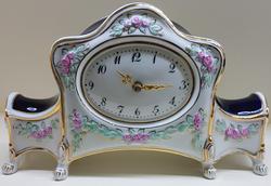 stolní hodiny komtesa porcelán bílé CZ