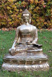 Buddha socha slitina kovů-mosaz