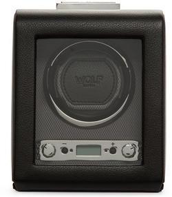 Wolf Viceroy single černá kůže 456002 watchwinder