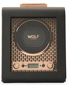 Wolf Axis Single černá kůže 469116 watchwinder