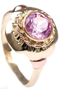 Zlatý prsten s rubínem P800