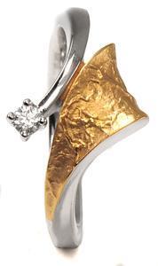 Zlatý prsten se zirkonem P1017