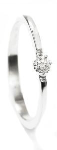 Zlatý prsten s diamantem 015273