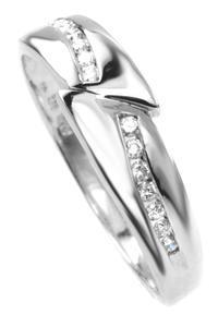 Zlaty prsten s diamanty 039141
