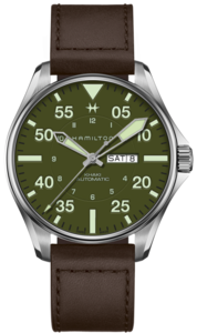 HAMILTON Khaki Aviation Pilot Schott NYC LE H64735561