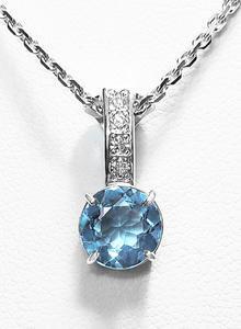 Zlatý přívěšek s topazem a diamanty 023322