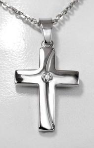 Zlatý přívěšek kříž P103