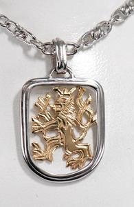 Zlatý přívěšek se lvem P87