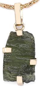 Zlatý přívěšek s vltavínem P35