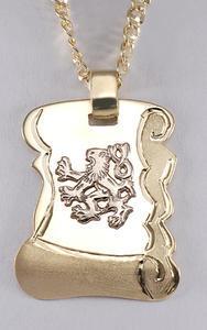 Zlatý přívěšek zlatá deska se lvem P72