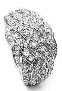 Zlatý prsten s diamanty PD438