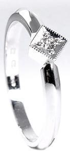 Zlatý prsten s diamantem 210