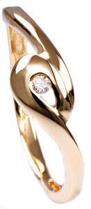Zlatý prsten s diamantem PD252