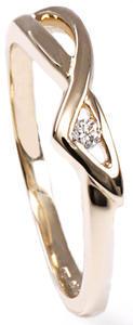 Zlatý prsten s diamantem PD253