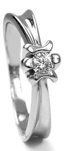 Zlatý prsten s diamantem PD288