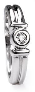 Zlatý prsten s diamantem PD304