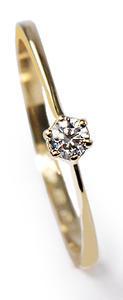 Zlatý prsten s diamantem PD379