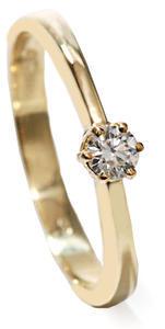 Zlatý prsten s diamantem PD415