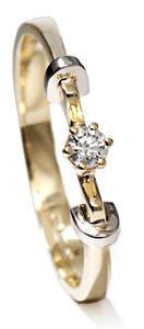 Zlatý prsten s diamantem PD417