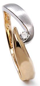 Zlatý prsten s diamantem PD445
