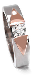 Zlatý prsten s diamantem PD461