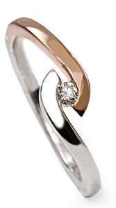 Zlatý prsten s diamantem PD512