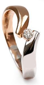 Zlatý prsten s diamantem PD514