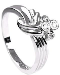 Zlatý prsten s diamanty PD258