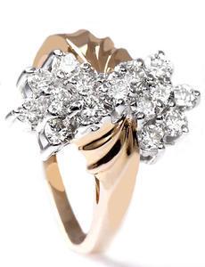 Zlatý prsten s diamanty PD269