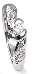 Zlatý prsten s diamanty PD311