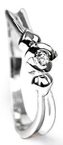 Zlatý prsten s diamantem PD391