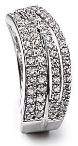 Zlatý prsten s diamanty PD440