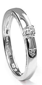 Zlatý prsten s diamanty PD442