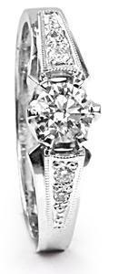 Zlatý prsten s diamanty PD484