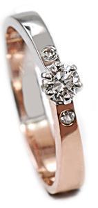 Zlatý prsten s diamanty PD492
