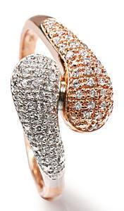 Zlatý prsten s diamanty PD508