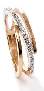 Zlatý prsten s diamanty PD535