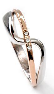 Zlatý prsten s diamanty PD536
