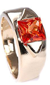 Zlatý prsten s padparadžou P790