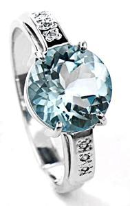 Zlatý prsten s topazem a diamanty PD520