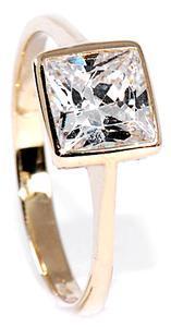 Zlatý prsten se zirkonem P678