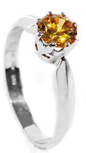 Zlatý prsten se žlutým zirkonem P647