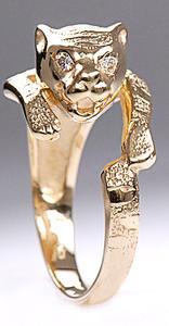 Zlatý prsten tygr P820