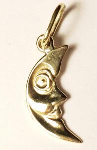 Zlatý přívěšek půlměsíc P247
