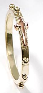 Zlatý růžencový prsten P952