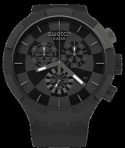 SWATCH hodinky SB02B400 BIG BOLD CHECKPOINT BLACK