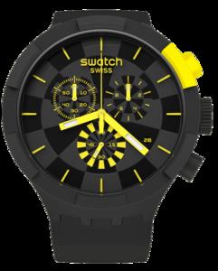 SWATCH hodinky SB02B403 BIG BOLD CHECKPOINT YELLOW