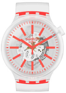 SWATCH hodinky SO27E102 ORANGEINJELLY