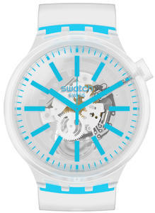 SWATCH hodinky SO27E105 BLUEINJELLY