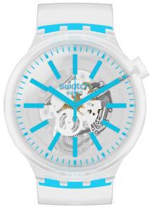 SWATCH hodinky SO27E105 BLUEINJELLY